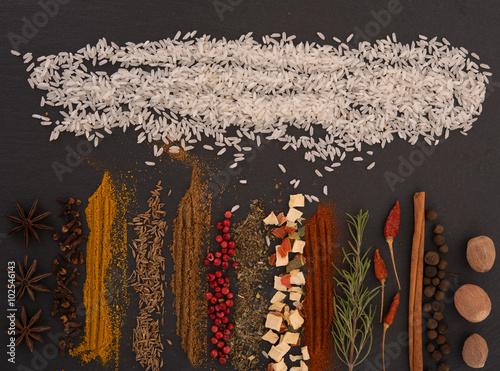 Printed kitchen splashbacks Spices Mix of spices