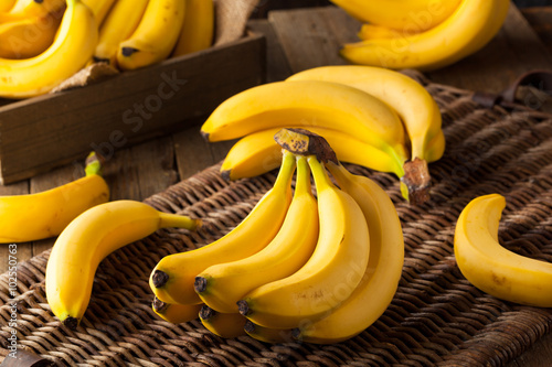 Raw Organic Bunch of Bananas