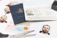 Identity Theft Through Fake Passport Making