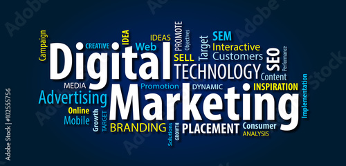 Fotografie, Obraz  Digital Marketing