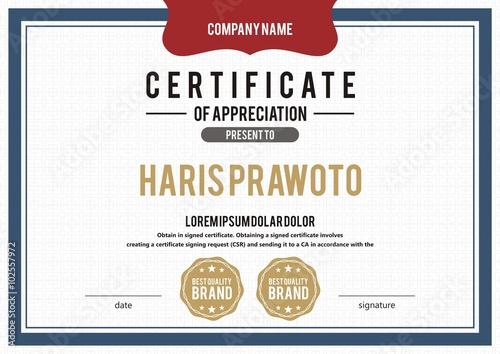 Simple Certificate Template Buy This Stock Vector And Explore