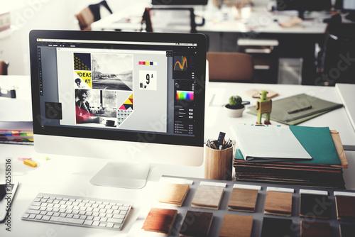 Design Studio Creativity Ideas Wood Palette Decoration Concept ...