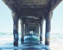 Waves Crashing Under The Pier