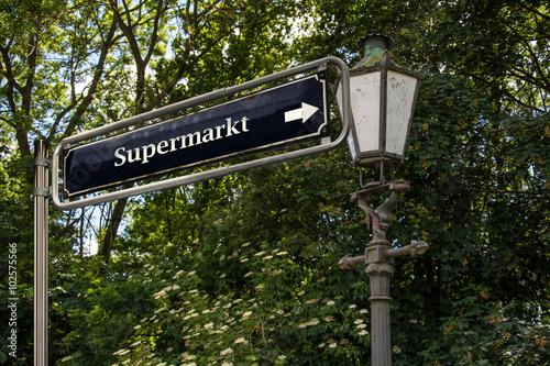 Schild 53 - Supermarkt