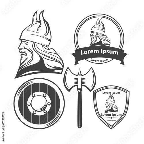 Photo  viking head logo elements