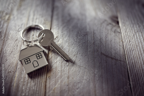 Photo House key on keychain