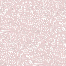 White Floral Scales Seamless P...