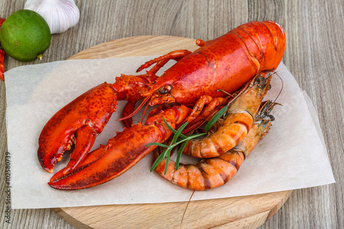 Lobster and shrimps Poster