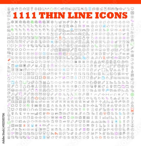 Fotografia  thin line icons exclusive XXL icons set