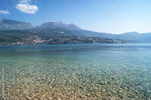 Papiers peints Bleu vert View of Herceg Novi from Njivice, Montenegro