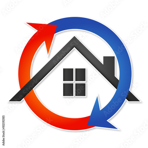 Air Conditioner House Symbol For Business Buy This Stock Vector