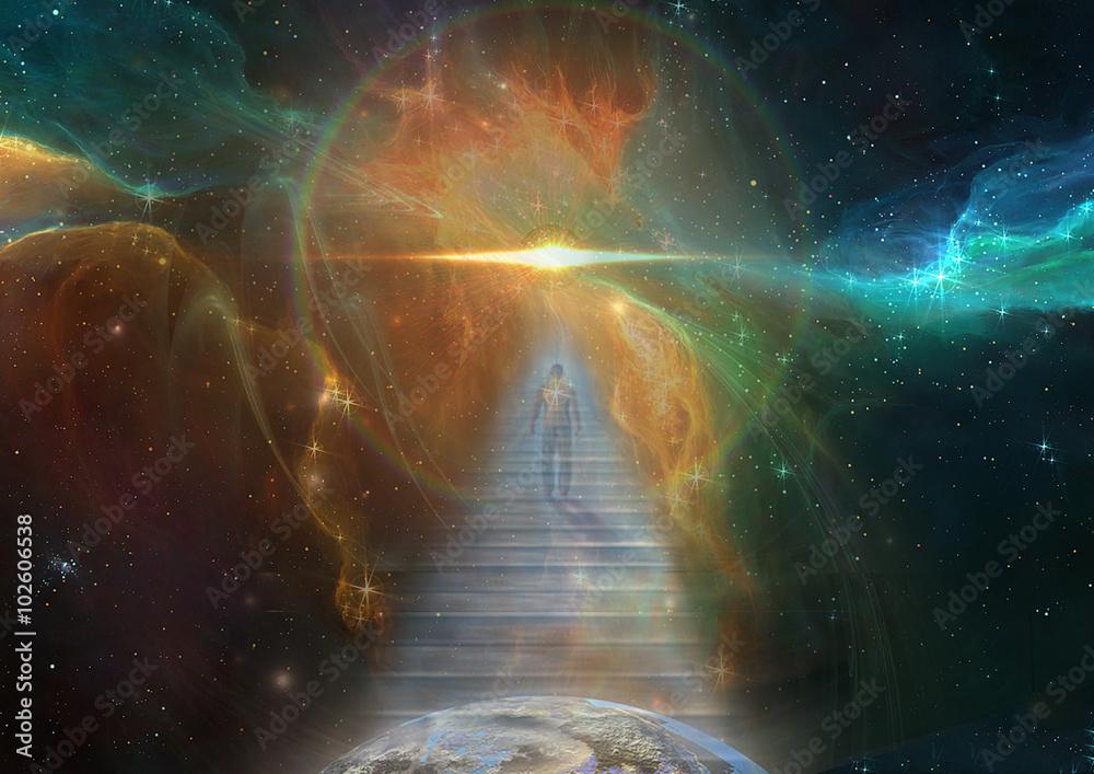 Fototapety, obrazy: Cosmic Stairway
