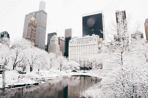Staande foto New York City Central Park after a Snow Storm, New York