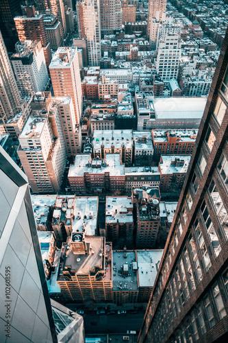 Spoed Foto op Canvas New York City New York Streets