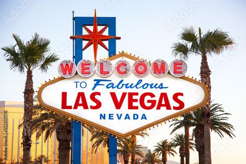 Deurstickers Las Vegas Welcome to las Vegas