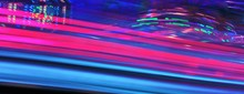 Synth Wave Disco Lights Fairground Funfair Ride Night Colors Of The Amusement Park Stock, Photo, Photograph, Picture, Image,