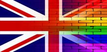 Gay Rainbow Wall Union Jack