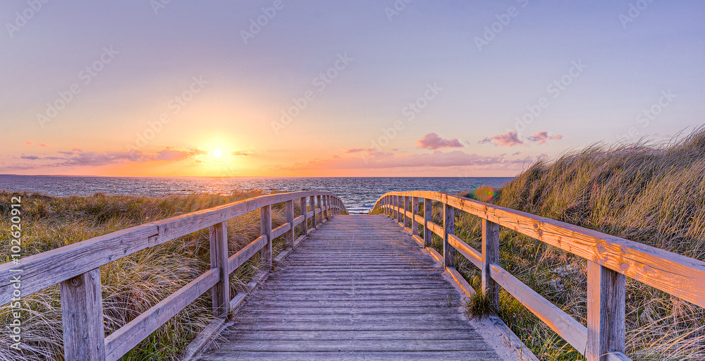 Foto-Schiebegardine Komplettsystem - Strand Sommer Sonne Urlaub