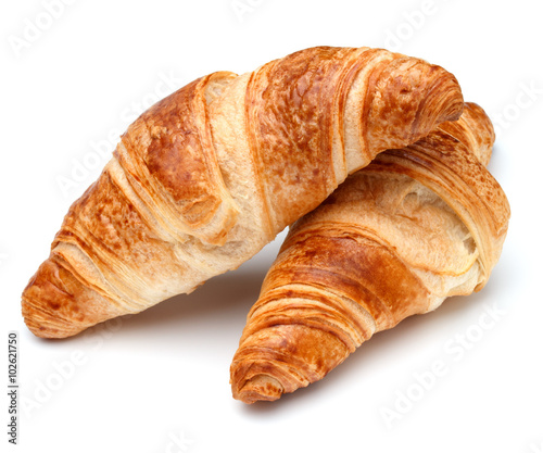 Croissant or  crescent roll isolated on white background cutout Fototapete