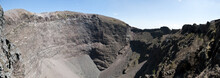 Panorama Of The Crater Of Vesuvius Naples