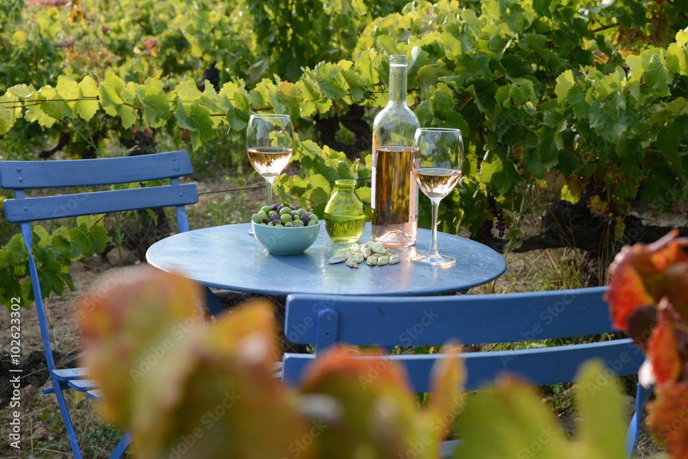 Fototapety, obrazy: apéro vignes