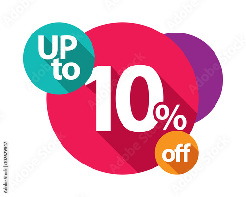 up to 10% discount logo colorful circles - Buy this stock vector and  explore similar vectors at Adobe Stock | Adobe Stock