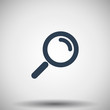 Flat black Magnifying Glass icon