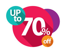 Up To 70% Discount Logo Colorful Circles