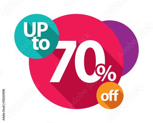 Fotografia  up to 70% discount logo colorful circles