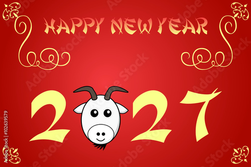 Poster  Happy chinese new year card illustration for 2027