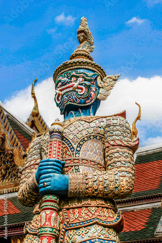Wall Murals Place of worship Wat Phra Kaew in Bangkok - Temple of Emerald Buddha