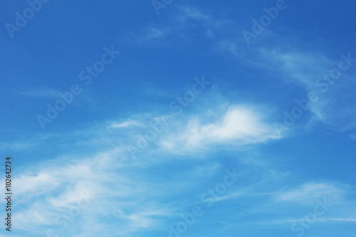Poster Bleu Clouds with blue sky