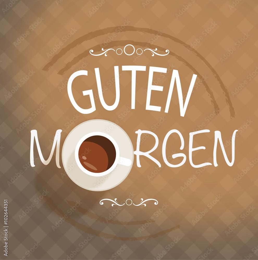 Photo Art Print Guten Morgen Kaffeetasse Europosters