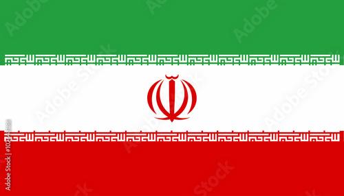 Fotografie, Obraz  Iranian National Flag