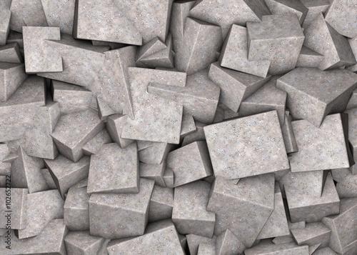 Obraz Fototapeta z betonowymi sześcianami - fototapety do salonu