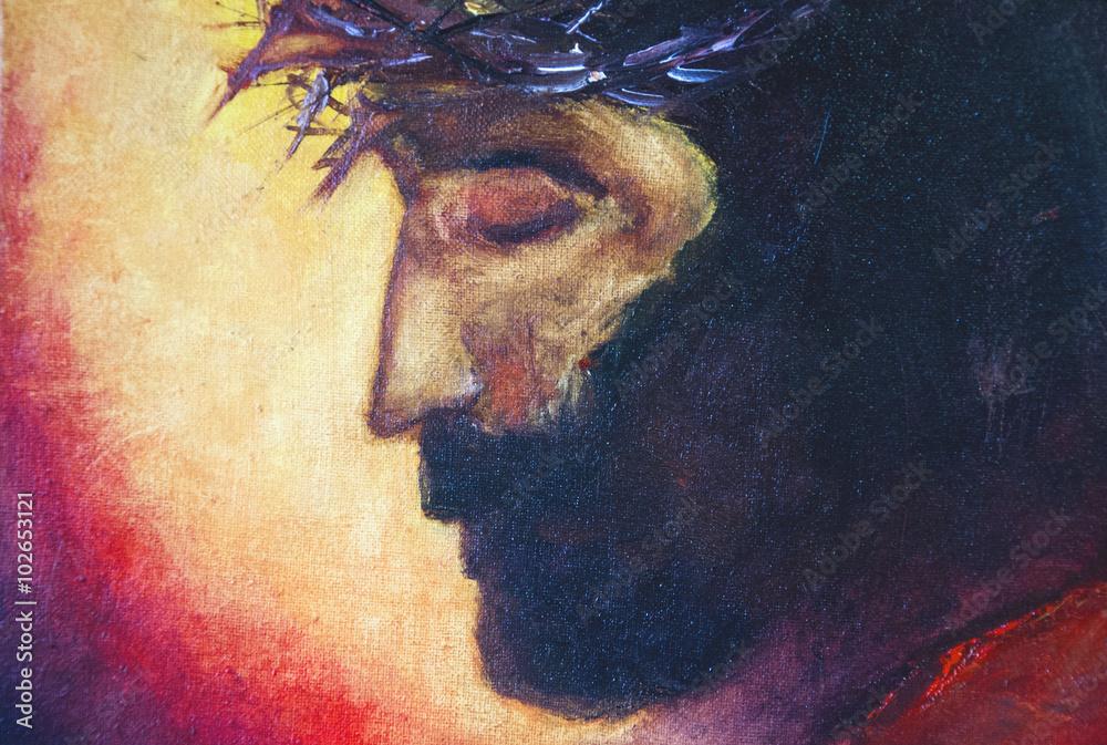 Foto  Jesus Christ oil painting