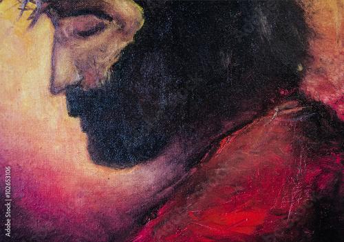 Jesus Christ oil painting Fototapeta