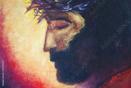 Jesus Christ oil painting Lerretsbilde
