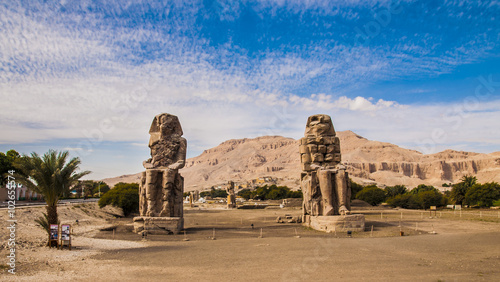 Photo Stands Egypt Colossi of Memnon - Ancient Egyptian Monuments