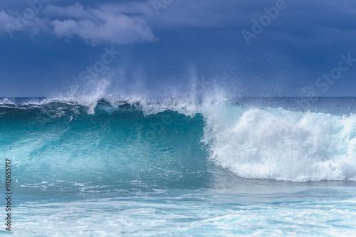 Stickers pour porte Eau Blue ocean waves