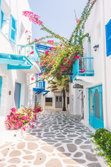 Beautiful architecture with santorini and greece style