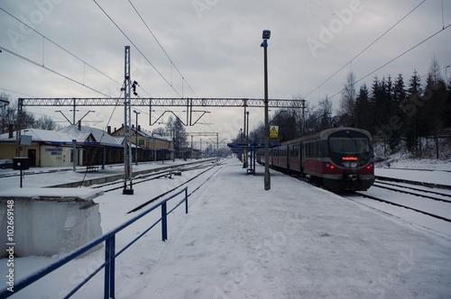 zakopane dworzec - pociąg