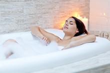 Beautiful Woman Relaxing In Th...