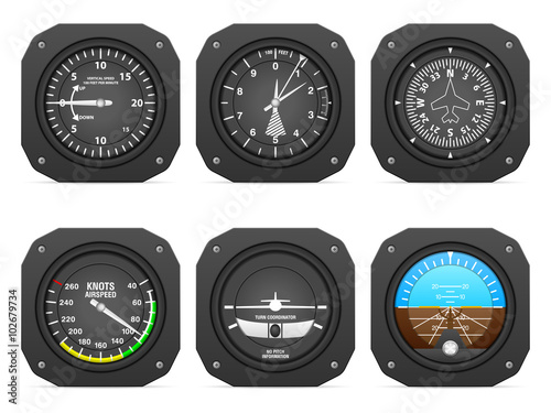 Fotografie, Obraz  Flight instruments