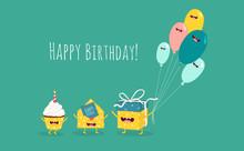 Happy Birthday Card. Funny Bir...