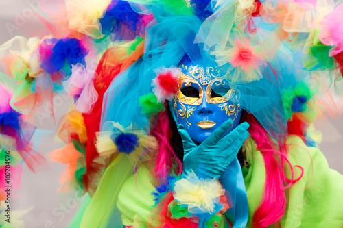Carnival of Venice, beautiful masks Wallpaper Mural