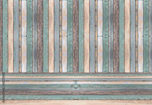 sciana-i-podloga-stary-kolor-drewna-deski