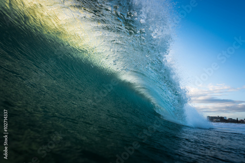 Foto auf Gartenposter Wasser Ocean Wave Barrel