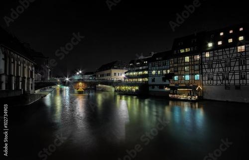 Fotografie, Obraz  Kanał w Strasburgu