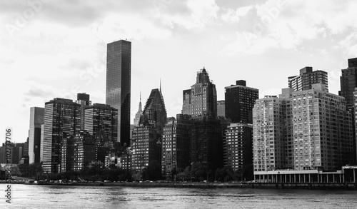 NewYork City panorama with Manhattan Skyline on sunny day